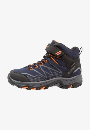 BLACKOUT MID WP  - Hiking shoes - navy/orange