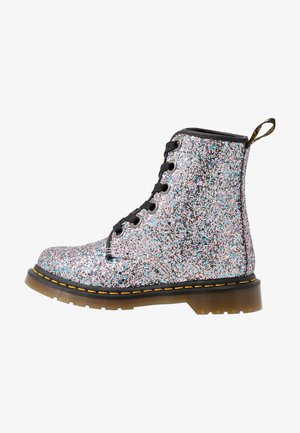 1460 FARRAH - Lace-up ankle boots - multicolor/blue chunky glitter