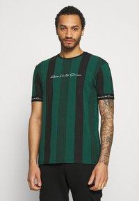 Kings Will Dream - VEDTON STRIPE TEE - T-shirt print - evergreen/black - 0