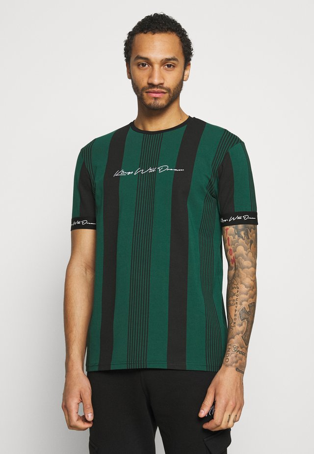 VEDTON STRIPE TEE - T-shirt imprimé - evergreen/black