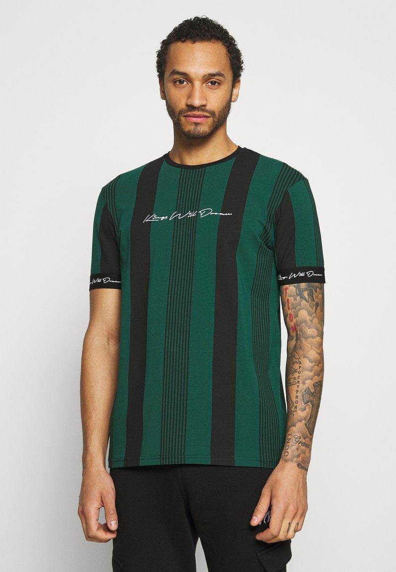 Kings Will Dream - VEDTON STRIPE TEE - T-shirt print - evergreen/black