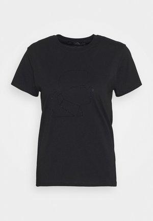 PROFILE RHINESTONE TEE - T-shirt imprimé - black