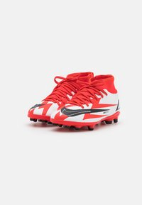 Nike Performance - MERCURIAL JR 8 CLUB CR7 FG/MG UNISEX - Kopačky lisovky - chile red/black/white/total orange - 1