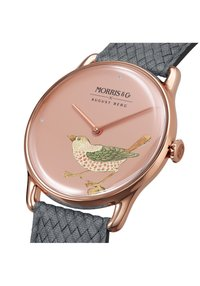 August Berg - UHR MORRIS & CO ROSE GOLD BIRD GREY PERLON 30MM - Horloge - primrose - 1