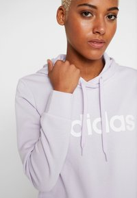 adidas Performance - ESSENTIALS LINEAR SPORT HODDIE - Jersey con capucha - purple tint/white - 4