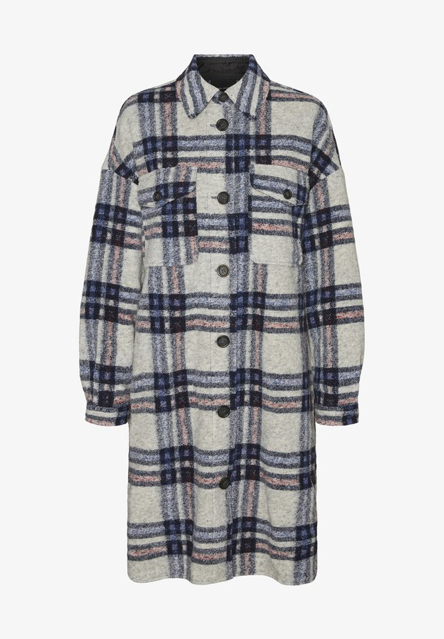 Button-down blouse - light grey melange