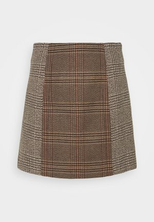 LAINY - Mini skirt - beige/gris