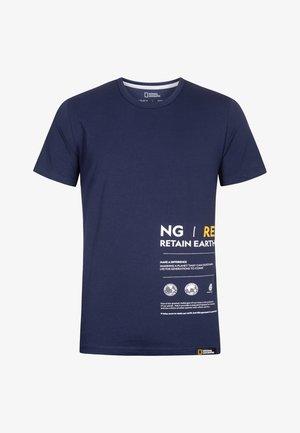 MIT PRINT - Print T-shirt - navy