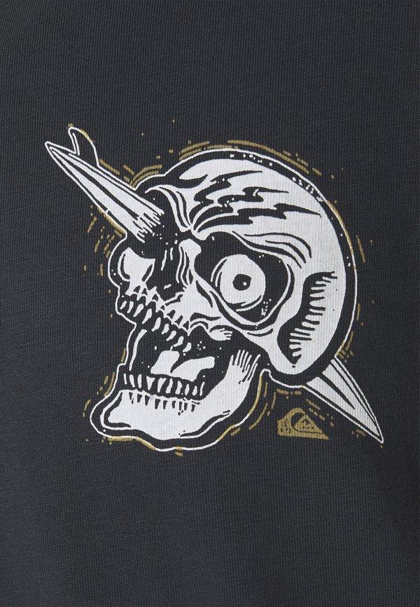 Quiksilver SUMMER SKULL - T-shirt z nadrukiem - black/czarny Odzież Męska XWOC