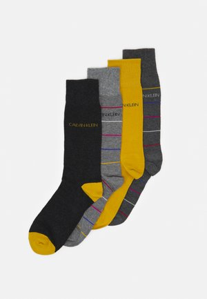 MEN CREW PENCIL STRIPE CREW GIFTBOX KARSYN 4 PACK - Socks - dark grey