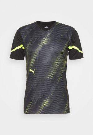 INDIVIDUAL FLASH - Print T-shirt - puma black/yellow alert