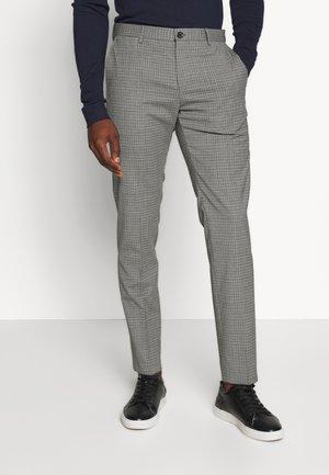 MINI CHECK SLIM FIT PANT - Pantalon classique - grey