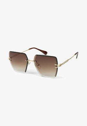 Sunglasses - gestell gold / glas braun verlauf