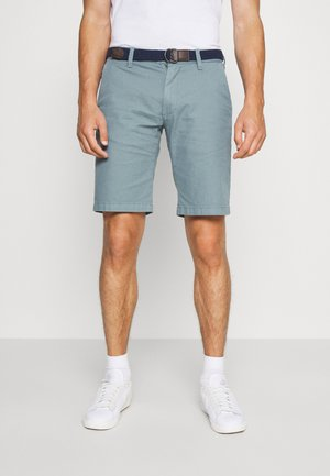 BERMUDA WITH BELT - Shorts - light blue