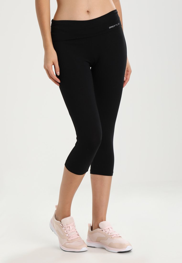 ONLY Play - Pantalon 3/4 de sport - black