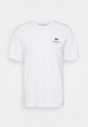 RELAXED FIT TEE UNISEX - Print T-shirt - white