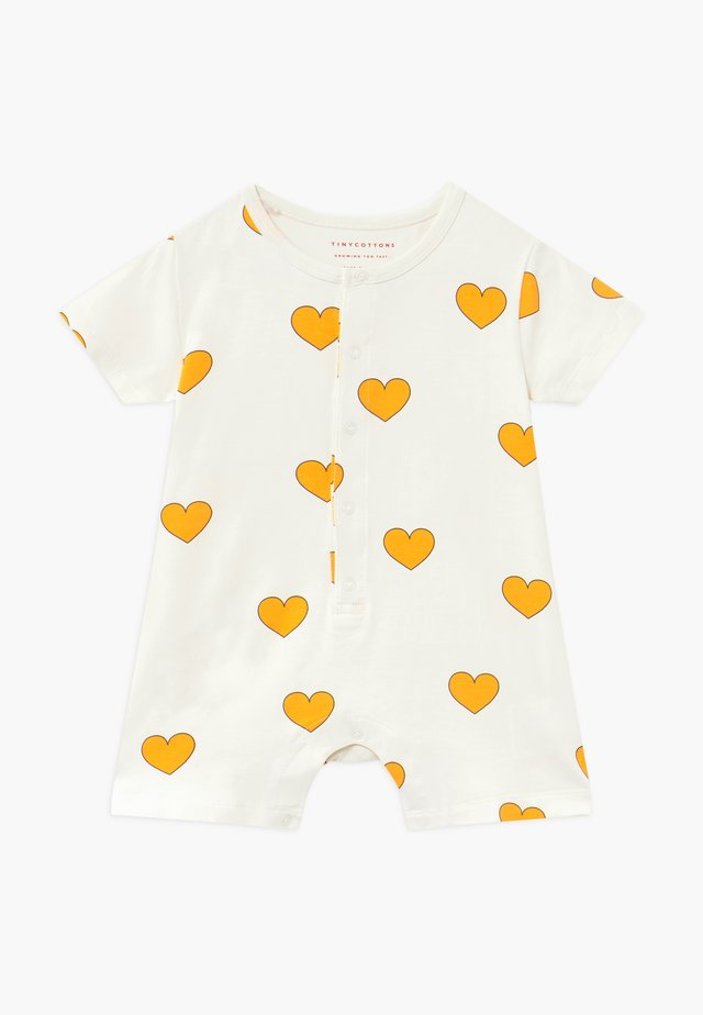 HEARTS ON PIECE - Tuta jumpsuit - off-white/yellow