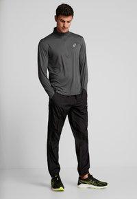 ASICS - ZIP - Long sleeved top - dark grey - 1