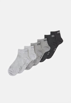 QUARTER PLAIN 6 PACK UNISEX - Sports socks - grey combo