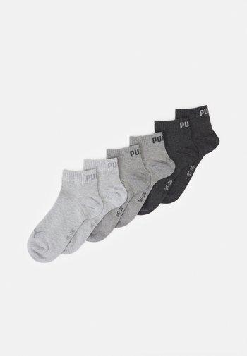 QUARTER PLAIN 6 PACK UNISEX - Sports socks - grey combo