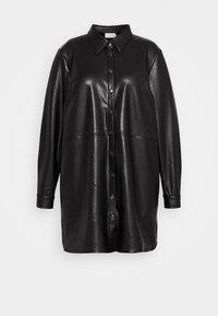 Kaffe Curve - VIMA SHIRT - Button-down blouse - black - 4