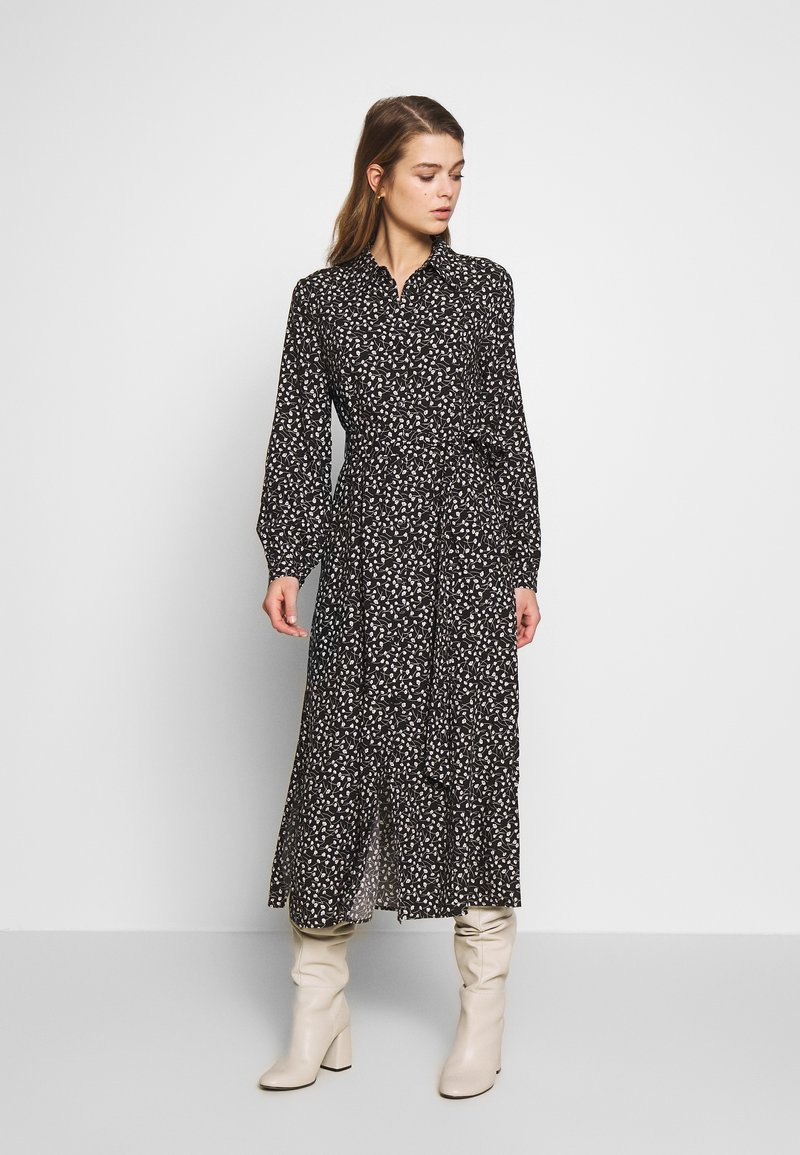 Monki - VENERA DRESS - Skjortekjole - black