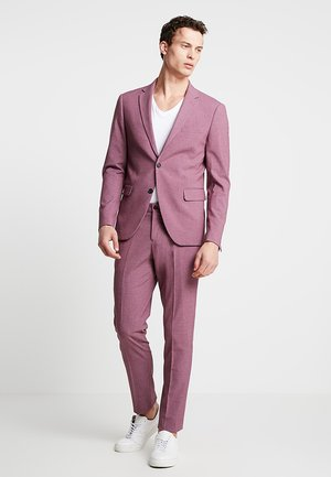 PLAIN MENS SUIT - Kostym - dusty pink melange