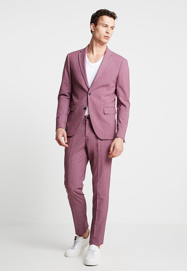 PLAIN MENS SUIT - Costume - dusty pink melange