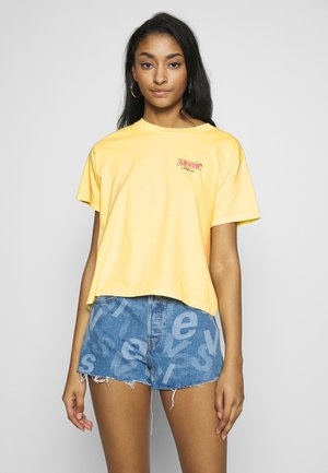 GRAPHIC VARSITY TEE - Print T-shirt - yellow