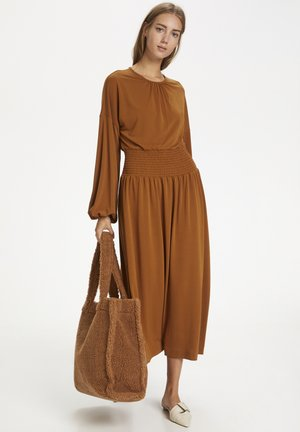 CHRISTELIW  - Jersey dress - leather brown