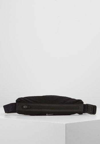 SLIM WAISTPACK UNISEX - Bum bag - black/silver