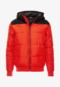 Only & Sons - ONSBOSTON QUILTED BLOCK HOOD - Chaqueta de entretiempo - pompeian red - 4