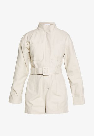 UTILITY STYLE BELTED PLAYSUIT - Mono - beige