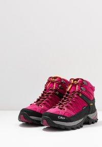 CMP - RIGEL MID TREKKING SHOE WP - Hiking shoes - bouganville/goji - 2