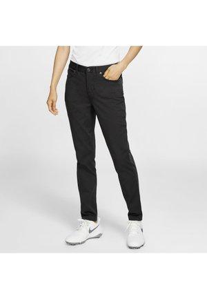 Trousers - black/black