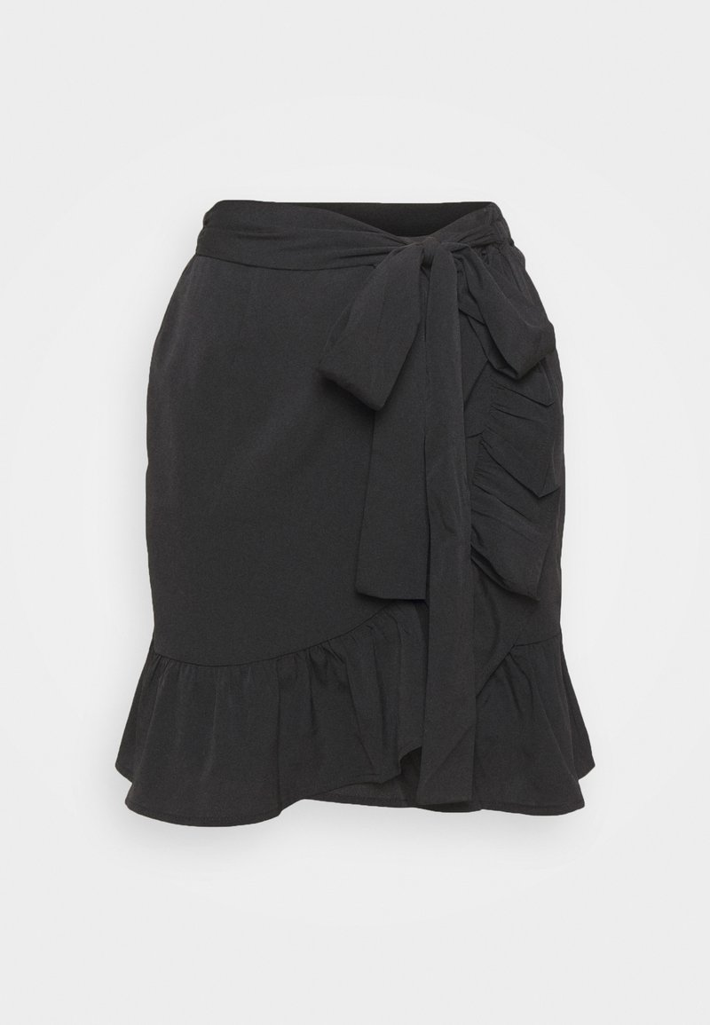 ONLY - ONLOLIVIA WRAP SKIRT - Omslagsskjørt - black