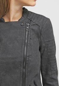 ONLY - ONLAVA BIKER  - Faux leather jacket - black - 4