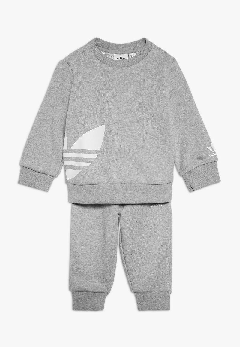 adidas Originals - BIG TREFOILCREW SET - Tuta - mid grey heather/white