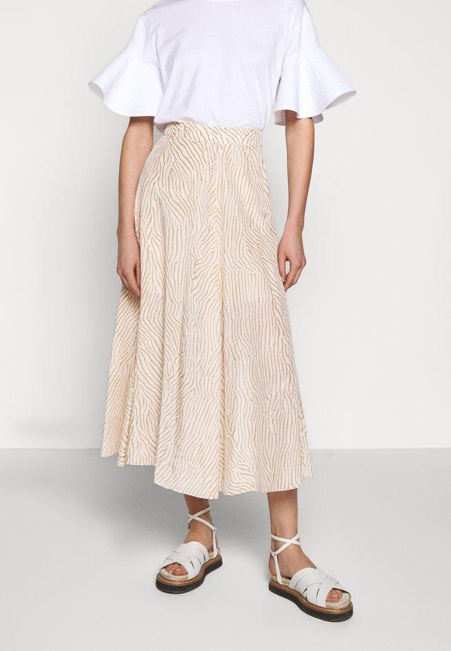 STACEY - Áčková sukně - sand