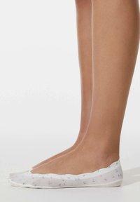 OYSHO - 2 PAIRS FLORAL - Trainer socks - blue - 0