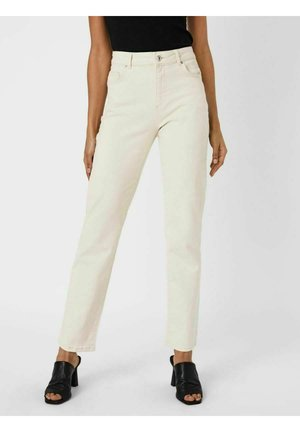 Straight leg jeans - ecru