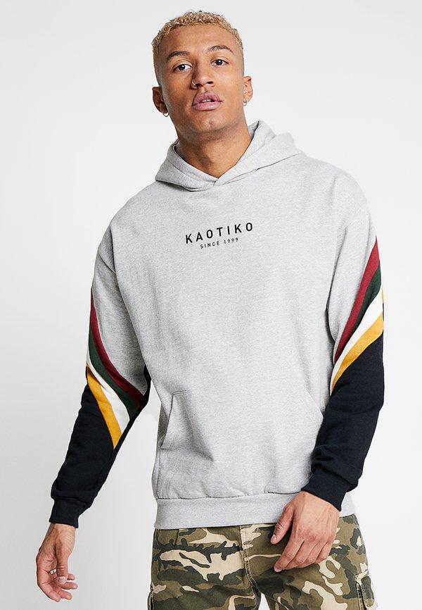 Kaotiko Bluza z kapturem - grey/szary Odzież Męska CEMI