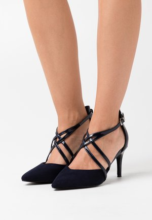 WIDE FIT WINTERBERRY - High heels - navy shimmer
