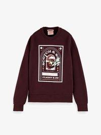 RELAXED FIT CREW NECK - Sweatshirt - wine