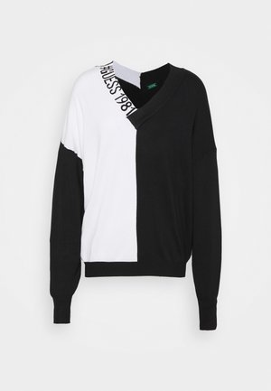 DALIA NECK - Svetr - black/white