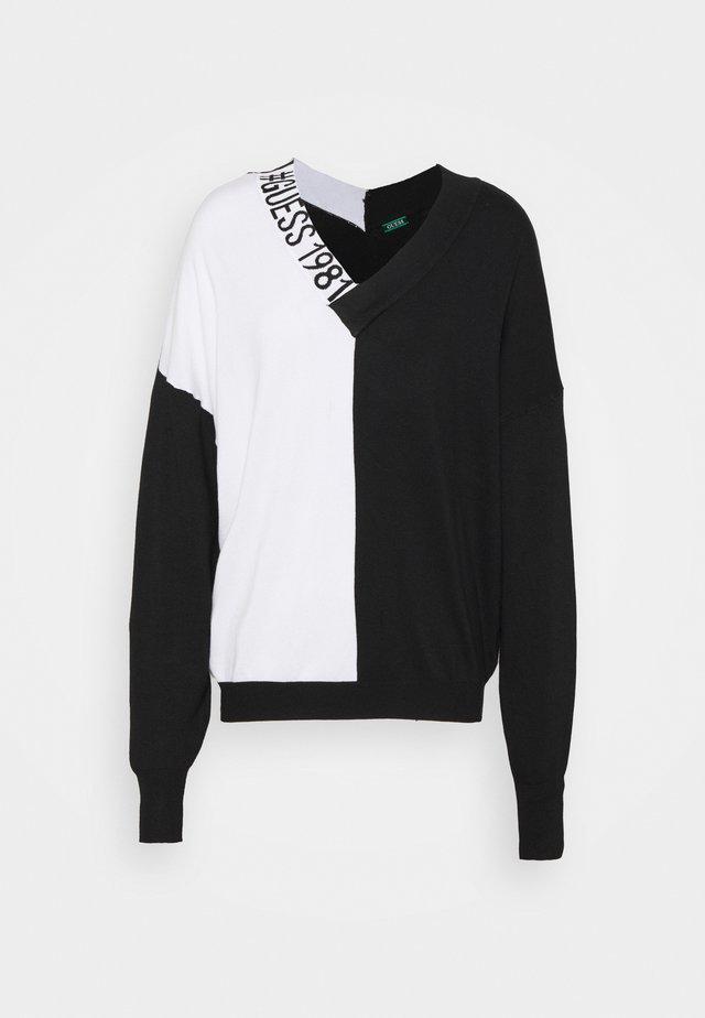 DALIA NECK - Jumper - black/white