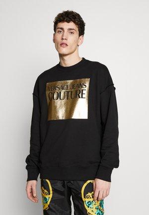 SWEAT CREW FOIL LOGO OVERSIZE - Sweatshirt - black