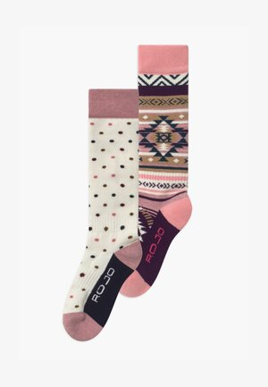 YOUTH 2 PACK - Knee high socks - snow white/fuschia pink