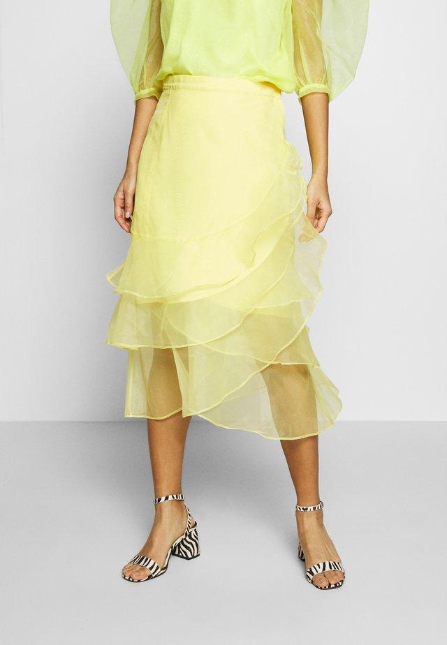 DAY FAIRY - A-line skirt - sulphur