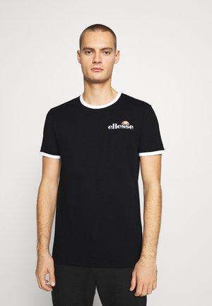 MEDUNO RINGER - Print T-shirt - black
